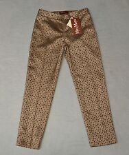 B2 NEW MAX MARA STUDIO Hardy Nude Small Flower Trousers Pants Sz US 2 IT 36 $295