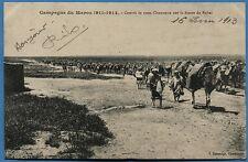 CPA: Campagne du Maroc 1911-1912 - Convoi de 1000 Chameaux sur la Route de Rabat