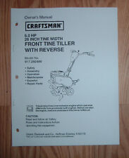 CRAFTSMAN 917.292490 TILLER OWNERS MANUAL WITH ILLUSTRATED PARTS LIST