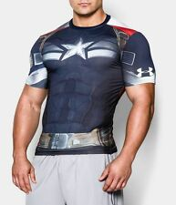 Captain America Winter Soilder Under Armour Compression Shirt XXL  - Authentic