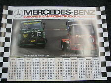 Poster Mercedes-Benz EK Truck Racing Cup Kalender 1990 (JS)