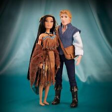 DISNEY STORE Fairytail Doll Collection POCAHONTAS & JOHN LIMITED EDITION of 6000
