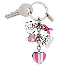 NEW Coach Breast Cancer Perfume Mix Charm Key chain Ring 92161 Heart Pink Love