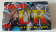 1x Maxell UR90 Blank Audio Cassette Tape, New & Sealed, HQ Sound, Free Post