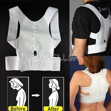 White Magnet Posture Corrector Clavicle Support Back Shoulder Brace By Flexible