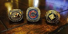 RARE 1907 & 1908 & 2016 Set Chicago Cubs World Series Championship Ring Lot USA