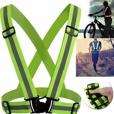 New Gear Reflective Vest Stripes High Visibility Security Adjustable Safety