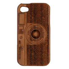 High Quality Classic Texture Wooden Phone Case Cover Skin For iPhone 4 4S