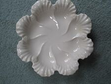 "Vintage Lenox Oyster Plate Dish Scalloped Shell Mid Century 10 1/2"" Cream Ivory"