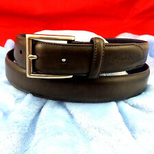 Nautica, Men's Belt, Coated Leather, Brown, Size 38-40 L