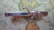 T503 Antique Silver Dinosaur Tie Bar Clip Gothic Steampunk Medieval Altered Art*