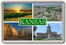 FRIDGE MAGNET - KANSAS - Large - USA America TOURIST
