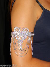 BRIDAL PARTY AB BUTTERFLY IRIDESCENT RHINESTONE UPPER ARM , BRACELET, ANKLET