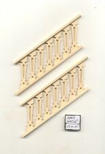 """Stairs Railing - Assembled NE1207 2pc 5-1/2"""" long basswood 1/12 scale PBL-3S"""