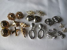 CLIP EARRING LOT 11 MONET HOBE CORO EMMONS VINTAGE GERMANY STERLING BUDA