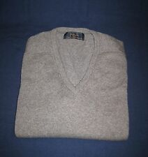 Pringle Scotland 100% Cashmere Sweater NWT Scotch House London Gray Mens 48 XXL