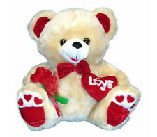 "Stuffed Animal Plush 14"" Teddy Bear LOVE Valentine Brown - Oso de Felpa Peluche"