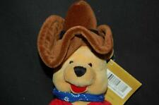 Disney Winnie The Pooh Cowboy Brown Hat Boots Bandana Bean Bag Plush Stuffed Toy