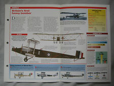 Aircraft of the World Card 14 , Group 14 - Handley Page O/100 & O/400