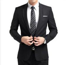 Men's Formal Slim Fit Stylish Suit/Suits one-button suit set Jacket pants tie