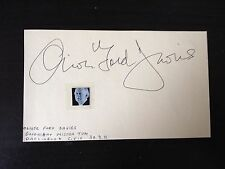 OLIVER FORD DAVIES - STAR WARS FILM ACTOR - SIGNED AUTOGRAPH ALBUM PAGE