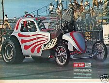 1971 Great Magazine Pic of Lorne Cook's Fuel Altered Motor Blowing Up.
