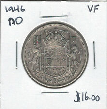 Canada 1946 Silver 50 Cents Narrow Date VF Lot#2