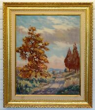 ANTIQUE Vintage LANDSCAPE Art Painting by ARTHUR C HENSHAW / New York CALIFORNIA
