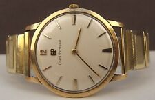 STUNNING GIRARD PERREGEUX GENTS WRIST WATCH 9CT SOLID GOLD