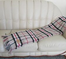 English Wool Blanket Plaid Bedspread from wool Cover Blanket 140x205