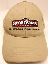 The Sportsman Channel Ball Cap Tan Embroidered Hunting Fishing Angler