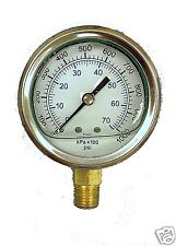 NEW Liquid Filled Hydraulic Pressure Gauge 0 - 5000 PSI