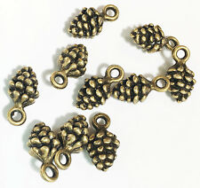 100 pcs of antique brass  pinecone charm 13x7mm