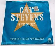 Cat Stevens The Hurt b/w Silent Sunlight 1973 A&M 1418 Folk Rock 45rpm Pic Slv