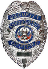 Silver Security Enforcement Officer Liberty & Justice For All Security Badge