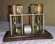 antique Miniature Vertical 2 Cylinder Marine Boat Steam Engine Motor Model