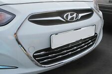Chrome Radiator Grille Garnish Wing 4D 5D For Hyundai Accent Solaris 2012 2016