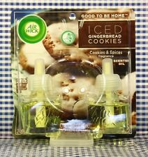 2 Refills Air Wick ICED GINGERBREAD COOKIES Scented Oil Refills (1 Box)