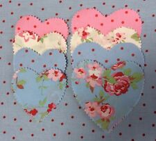 Cath Kidston Fabric Material 16 Large  16 Smaller Hearts Patchwork Quilting Sew