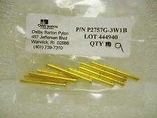 (NEW) Ostby Barton Pylon P2757G-3W1B Pogo Pin Test Probes Lot of 9 pcs Gold