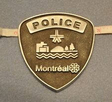 Canada Montreal Police Metal Desk Type Plaque with padded type backing
