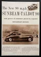 SUNBEAM-TALBOT 90 - Vintage B&W Magazine Advert - Cars/Motoring (27 Sep 1952) *