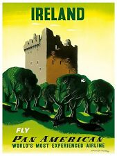 "Ireland Art Vintage Travel Poster Print 12x16"" Rare Hot New XR328"