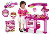 69PC LARGE PINK CHILDRENS KIDS KITCHEN COOKING COOKE ROLE PLAY PRETEND TOY