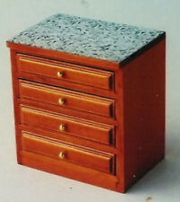 Dolls House Furniture: Kitchen Drawers Unit in cherry wood finish 12th scale