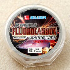NEW Sea Lion 100% Made in Japan Fluorocarbon Leader Fishing Line 3LB 30M
