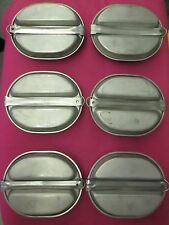 vintage us stainless steel/ camping pans w/fork/spoon/knife