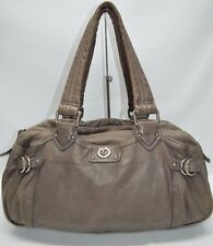 Marc Jacobs Totally Turnlock Heidi Satchel Large Bowler Bag Gray