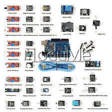 NEW 37 in 1 Sensor Modul Kit + UNO R3 ATmega328P CH340 for Arduino Compatible ME