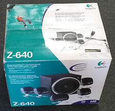 LOGITECH 5.1 SUROUND SOUND 6 SPEAKER COMPUTER SPEAKERS - Z-640 - NEW OPENED BOX
